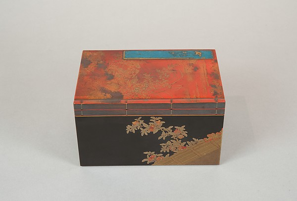 Incense Box with Design of Camellia, Autumn Grasses, and Tree