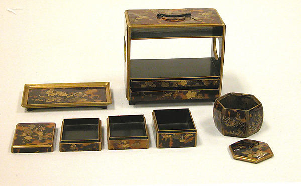 Cabinet for Incense, Nest of Boxes, Tray
