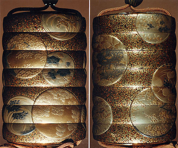 Case (Inrō) with Design of Flowers in Roundels