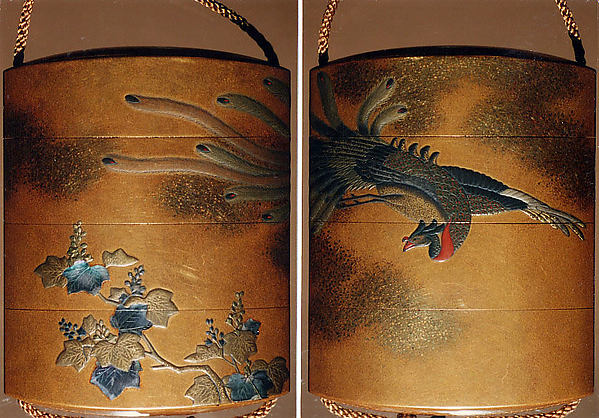 Case (Inrō) with Pheonix and Paulownia Tree