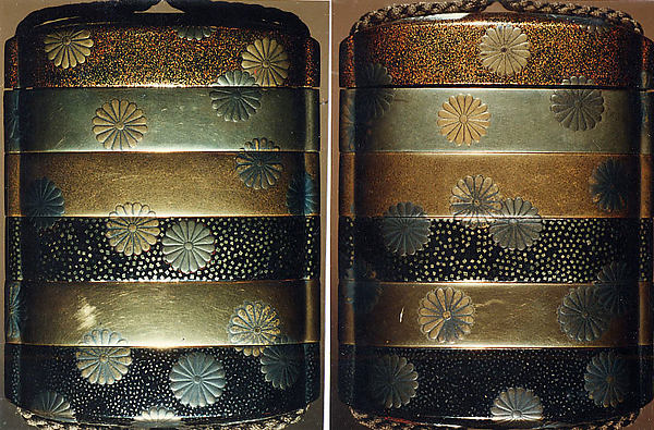 Case (Inrō) with Design of Scattered Pawlonia Blossoms