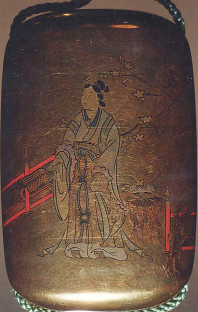 Inrō with the Queen Mother of the West (Seiōbo); Boy with a Peach (reverse)