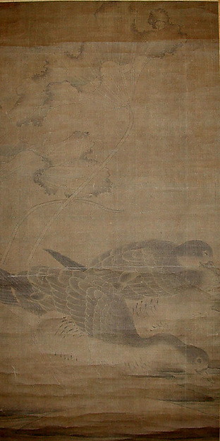 Geese and Lotus Leaves
