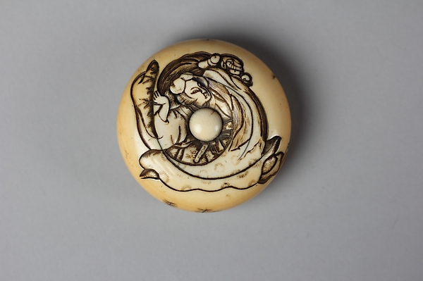 Netsuke of Woman with a Demon