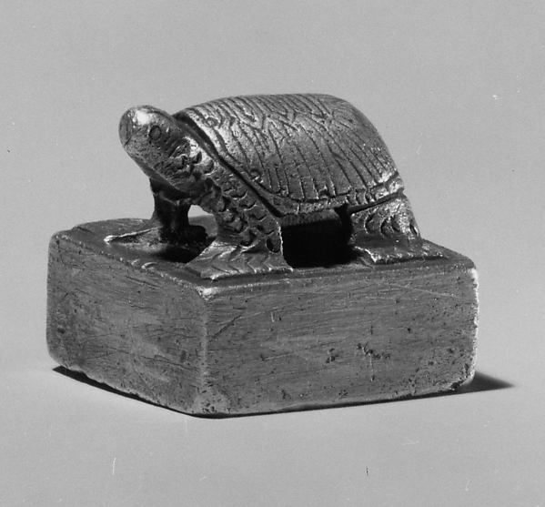 Seal with Knob in the Shape of a Turtle