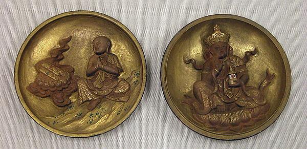 Portable Shrine of Miroku Bosatsu with Sacred Sanskrit Syllable