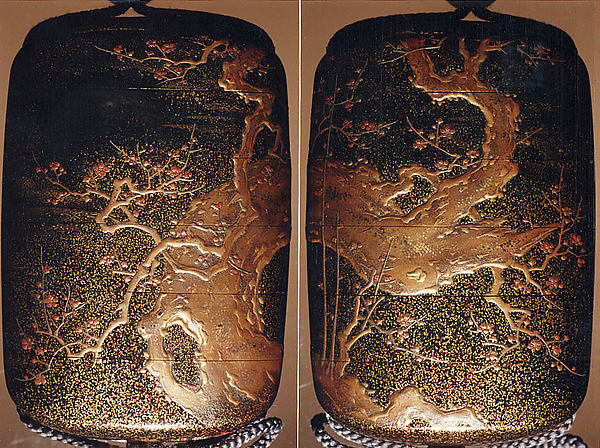 Case (Inrō) with Design of Blossoming Plum Tree