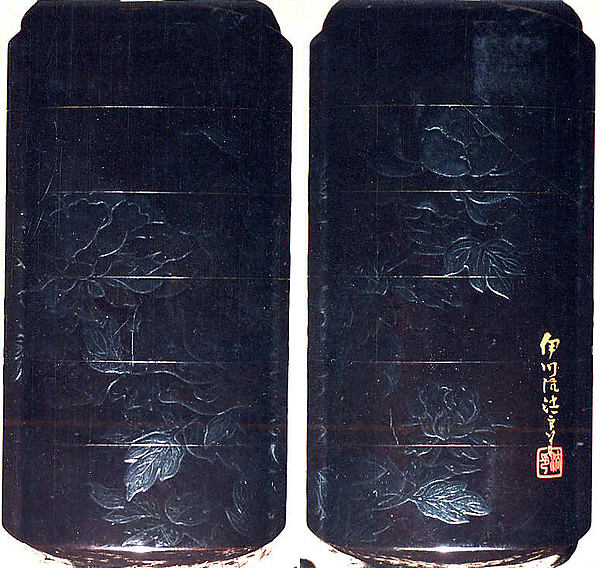 Case (Inrō) with Design of Flowering Peonies