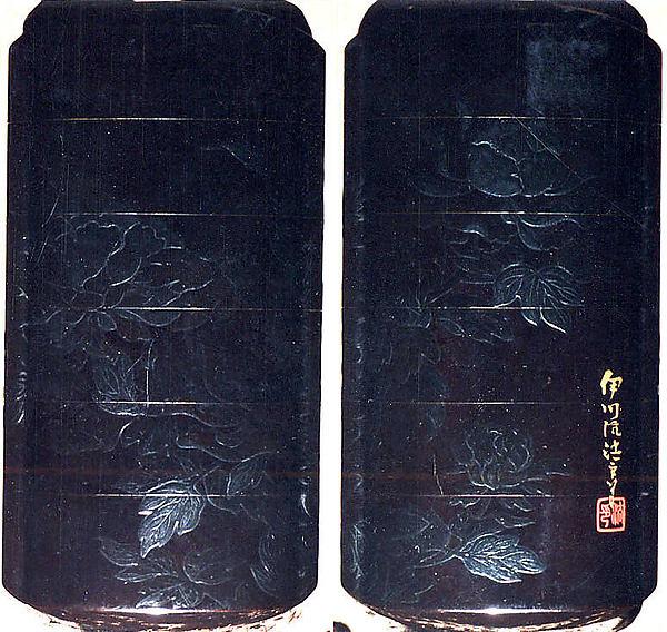 Case (Inrō) with Design of Flowering Peonies
