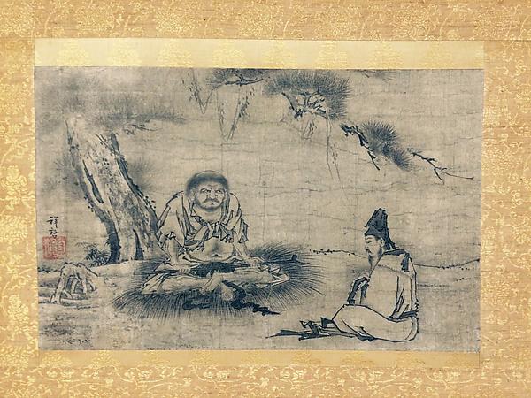 Daruma (Ta Mo) and Disciple under Pine Tree