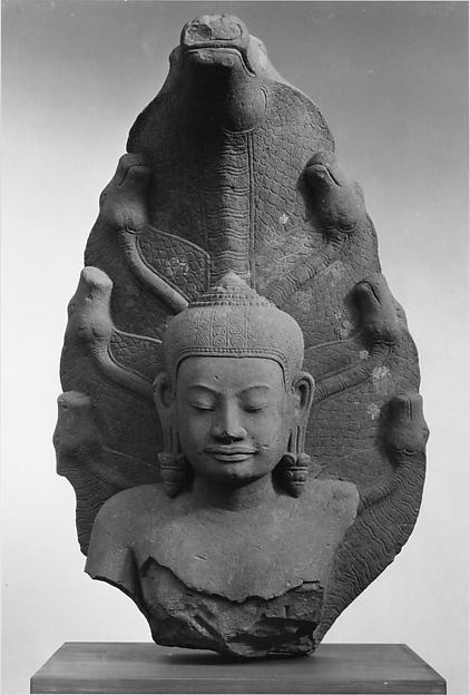 Buddha Protected by a Seven-headed Naga