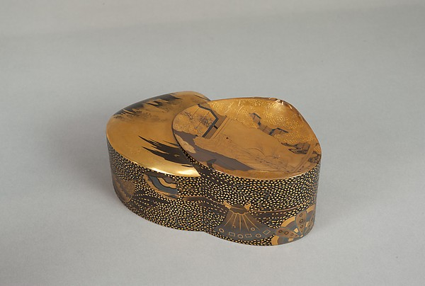 "Incense Box (Kōbako) with Scene from ""His Perfumed Highness"" (Niou no Miya), chapter 42 of the Tale of Genji"