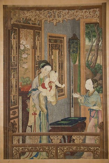 Interior with Woman, Child and Nurse
