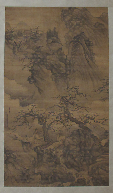 Spring Landscape with Plum Blossoms, Scholar and Deer