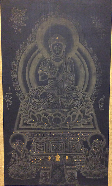 Buddha Seated on Lotus Throne