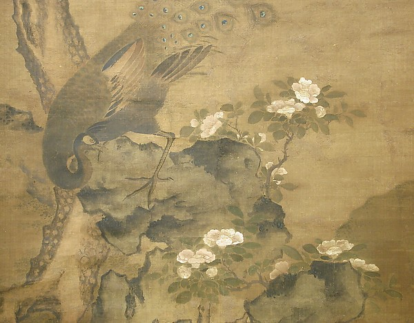 Peacock with Pine and Camellia