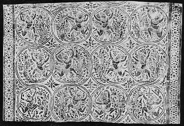 Rubbing of Apsarases (Dancers)