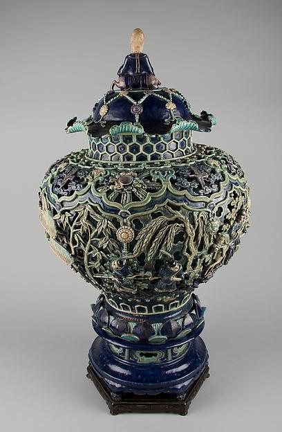 Covered Jar on a Pedestal