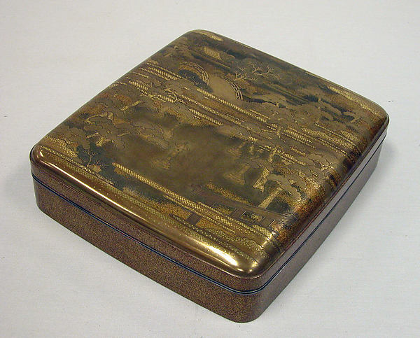 Writing Box with Design of the Sumiyoshi Shrine