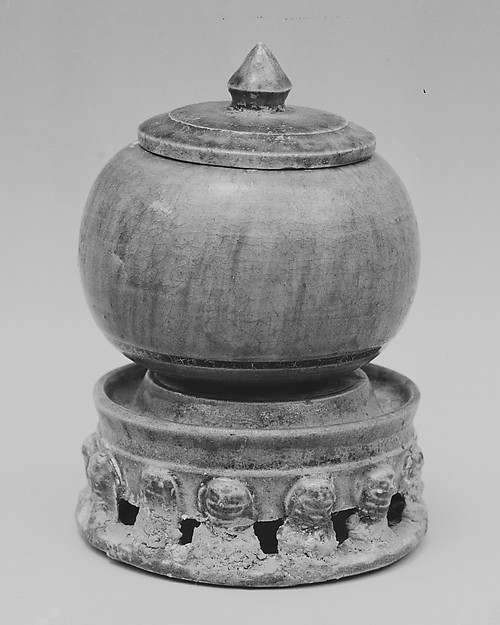 Jar with Cover and Base