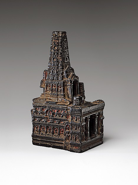 Model of the Mahabodhi Temple
