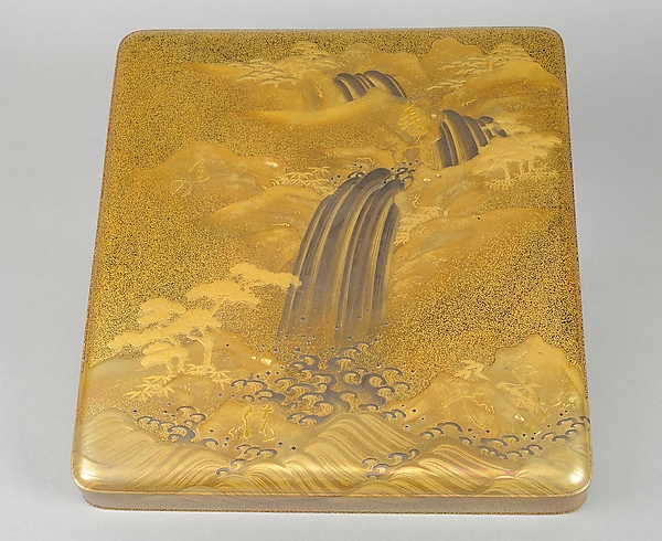Writing Box with Waterfall and Auspicious Characters