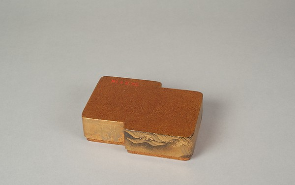 Incense Box with Designs of Pines Along the Shore and Young Pines