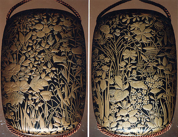 Case (Inrō) with Design of Flowers and Grasses