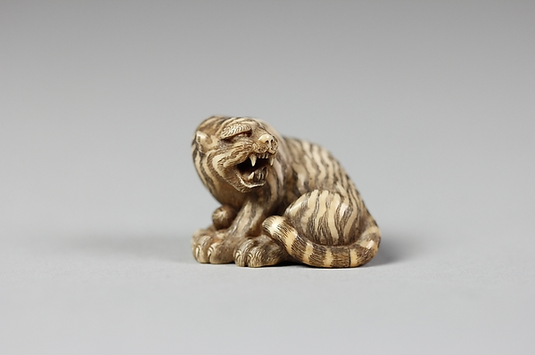 Netsuke of Tiger with Head Turned