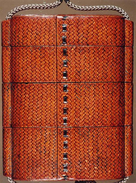 Case (Inrō) with Basketwork Design