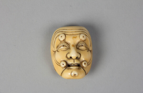 Netsuke of Noh Mask: Okina