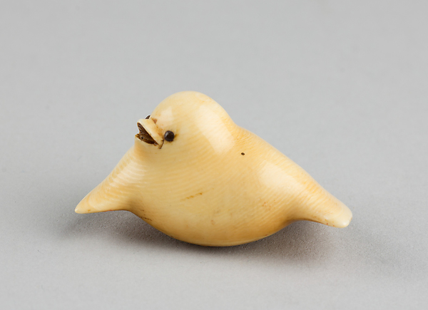 Netsuke of Young Sparrow