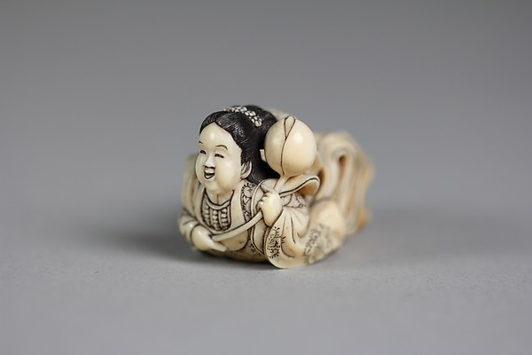 Netsuke of Flying Buddhistic Angel