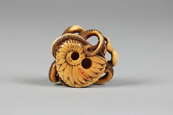 Netsuke of Octopus