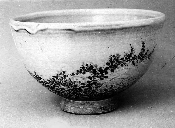 Tea Bowl Decorated with Autumn Grasses