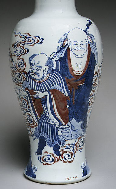 Vase with Buddhist Figures