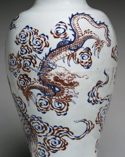 Vase with Buddhist Figures