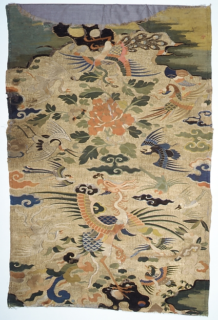 Panel (Kesi) with a Phoenix and Other Birds