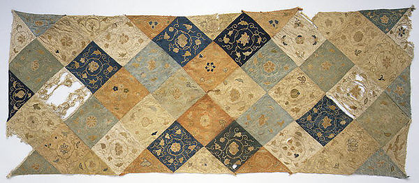 Embroidered Patchwork Panel