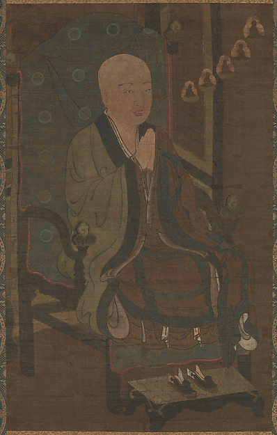 善導大師像<br/>Portrait of Shandao Dashi (Japanese: Zendō Daishi)