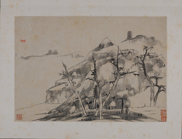 明/清  朱耷  山水圖  冊<br/>Landscape