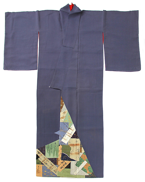 Robe with Tanzaku and Shikishi Poem Cards