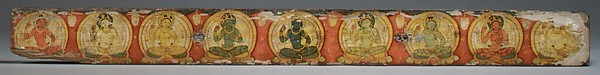 Pair of Manuscript Covers with Buddhist Deities