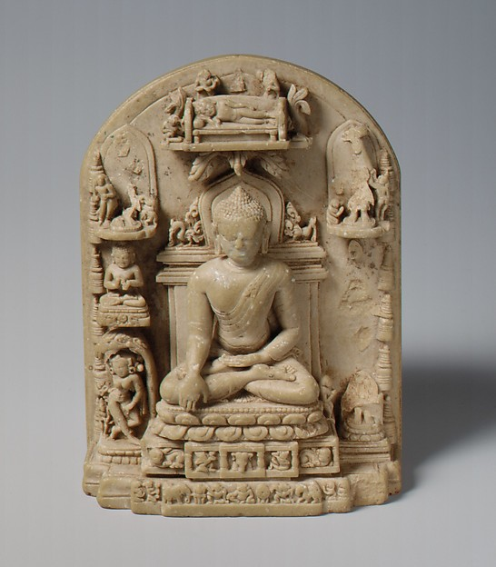 Plaque with Scenes from the Life of the Buddha