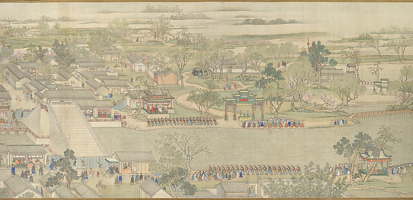 The Qianlong Emperor's Southern Inspection Tour, Scroll Six: Entering Suzhou along the Grand Canal (Qianlong nanxun, juan liu: Dayunhe zhi Suzhou)