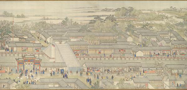Qianlong nanxun, juan liu: Dayunhe zhi Suzhou<br/>清   徐揚等  乾隆南巡圖, 第六卷﹕大運河至蘇 州<br/>The Qianlong Emperor's Southern Inspection Tour, Scroll Six: Entering Suzhou along the Grand Canal (Qianlong nanxun, juan liu: Dayunhe zhi Suzhou)
