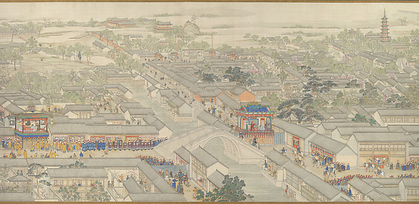 Qianlong nanxun, juan liu: Dayunhe zhi Suzhou<br/>清   徐揚等  乾隆南巡圖, 第六卷﹕大運河至蘇 州<br/>The Qianlong Emperor's Southern Inspection Tour, Scroll Six: Entering Suzhou along the Grand Canal (Qianlong nanxun, juan liu: Dayunhe zhi Suzhou)