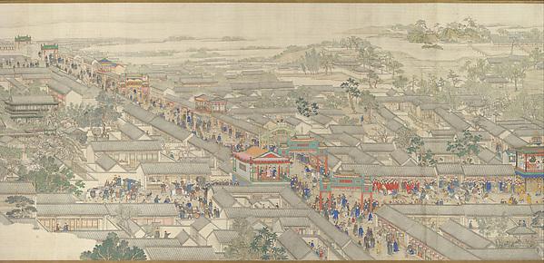 清  徐揚 等   乾隆南巡圖  (第六卷﹕大運河至蘇州)  卷 <br/>The Qianlong Emperor's Southern Inspection Tour, Scroll Six: Entering Suzhou along the Grand Canal