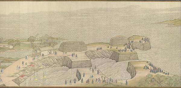 清   徐揚等  乾隆南巡圖, 第四卷﹕黃淮交流<br/>The Qianlong Emperor's Southern Inspection Tour, Scroll Four: The Confluence of the Huai and Yellow Rivers (Qianlong nanxun, juan si: Huang Huai jiaoliu)