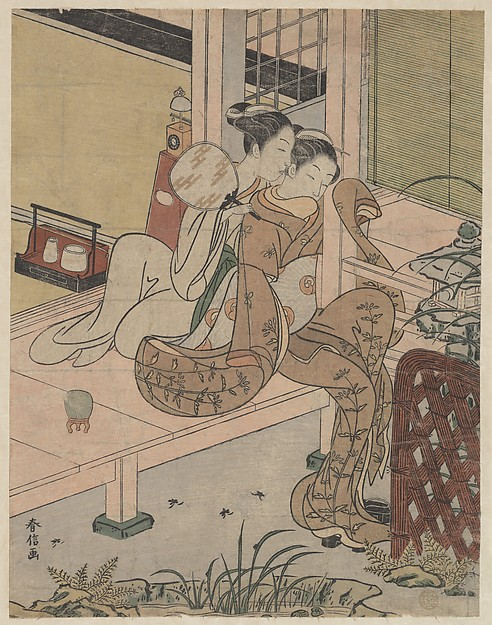 Fascinating Historical Picture of Suzuki Harunobu with The Gossips in 1767